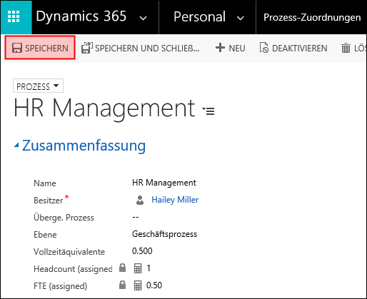 Prozesse - Dynamics HR Management
