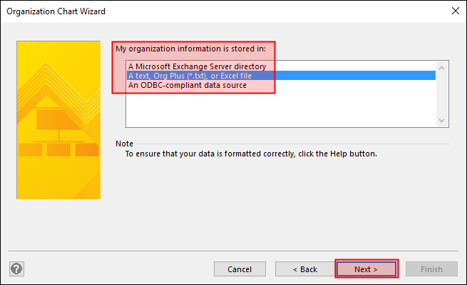 Transfer an Org Chart from Dynamics to Visio